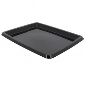Plastic schotel Rechthoekige vorm zwart 31,6x26,5x2cm (25 stuks)
