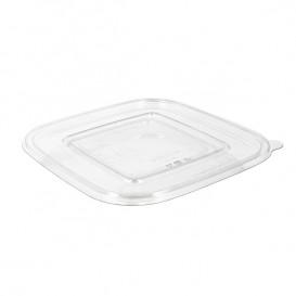 Tapa Plana Plástico para Bol PET 120x120mm (1000 Uds)