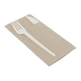 Eetgerei zak papieren servetten Eco 40x40cm (30 stuks)