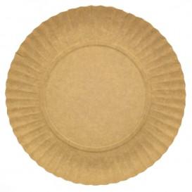 Papieren bord Rond vormig kraft 23cm 255g/m2 (600 stuks)