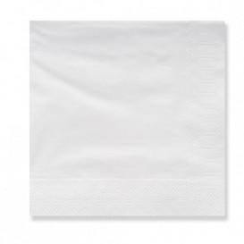 Papieren servet 3 laags witte randen 20x20 (100 stuks)