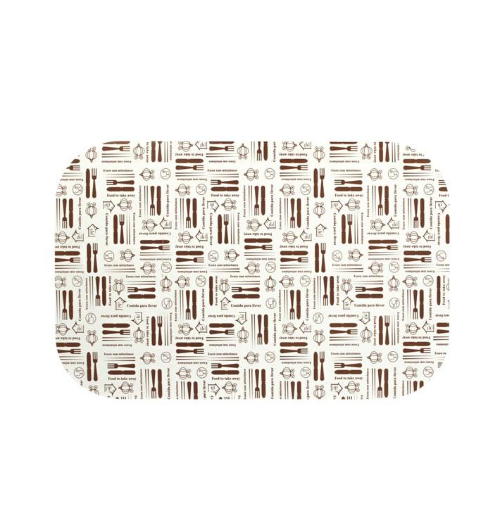 """Papieren Deksel voor Folie pan """"15 Cannelloni"""" 1500 ml (500 stuks)"""