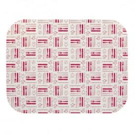 """Papieren Deksel voor Folie pan """"12 Cannelloni"""" 1180ml (100 stuks)"""