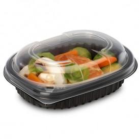 Plastic PP Container Rechthoekige vorm 250ml 14,2x11,1x3,1cm (80 stuks)
