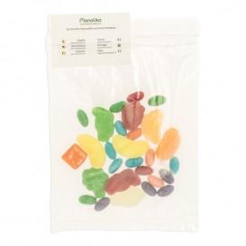 Plastic zak autosluiting met zak 16x22+20cm G-200 (1000 stuks)