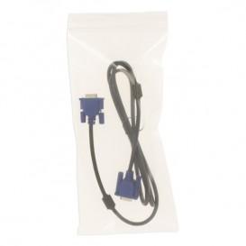 Plastic zak met rits drukknoopsluiting 14x30cm G-300 (100 stuks)