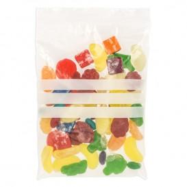 Plastic zak met rits drukknoopsluiting 12x18cm G-200 (1000 stuks)