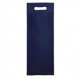Niet geweven tas met gestanste handgrepen hemels blauw 17+10x40cm (25 stuks)