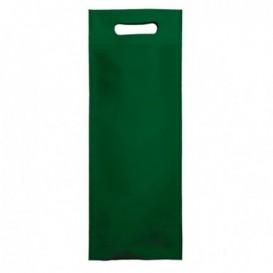 Niet geweven tas met gestanste handgrepen groen 17+10x40cm (25 stuks)