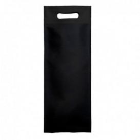 Niet geweven tas met gestanste handgrepen zwart 17+10x40cm (200 stuks)