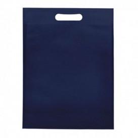 Niet geweven tas met gestanste handgrepen hemelsblauw 30+10x40cm (25 stuks)