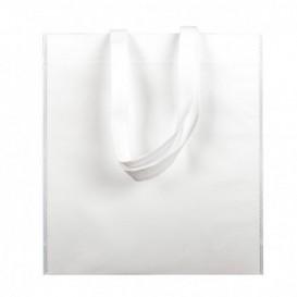 Niet geweven tas met korte hengsels wit 38x42cm (25 stuks)