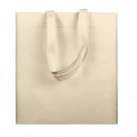 Niet geweven tas met korte hengsels crème 38x42cm (25 stuks)