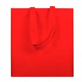 Niet geweven tas met korte hengsels rood 38x42cm (25 stuks)