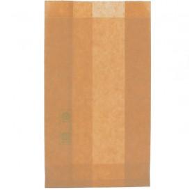 Papieren hamburgerbox Vetvrij Burger Design kraft 12+6x20cm (250 stuks)
