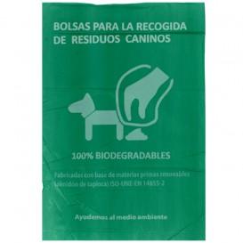 Plastic zak voor uitwerpselen van honden 100% bio 20x33cm (100 stuks)