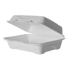Suikerriet Gescharnierd Container wit 23x15x7,5cm (250 stuks)