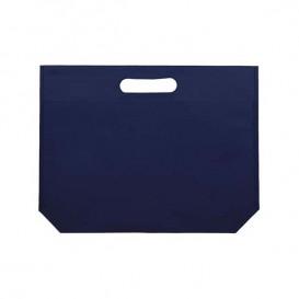 Niet geweven tas met gestanste handgrepen elektrisch blauw 34+8x26cm (25 stuks)