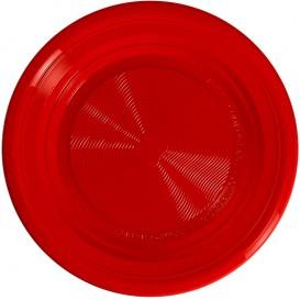 Bord PLA Plat rood Ø22 cm (375 stuks)