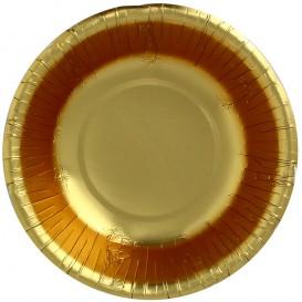 "Papieren Kom ""Party"" goud Ø16cm (6 stuks)"