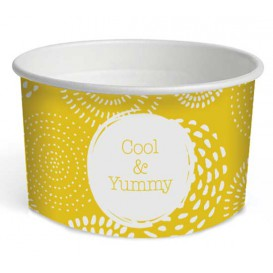 "Paper Ice Cream Container ""Cool&Yummy"" 5oz/140ml (1000 Units)"