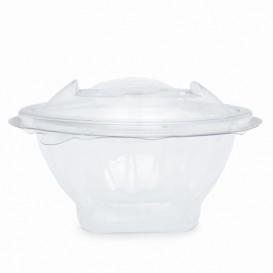 Plastic saladekom APET Rond vormig transparant 150ml Ø12cm (21 stuks)