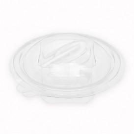 Plastic saladekom APET Rond vormig met lepel 150ml Ø12cm (60 eenheden)