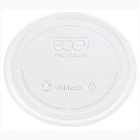 Lid for Tub Deli Container PLA Clear Compostable 145ml (100 stuks)