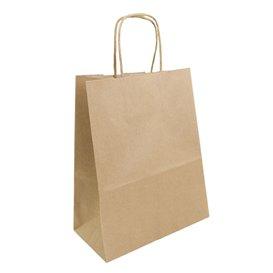 Papieren zak met handgrepen kraft bruin 100g 22+11x27cm (25 stuks)