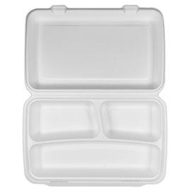 Suikerriet Gescharnierd Panini Container 3C 38x48,3x6,15cm (100 stuks)
