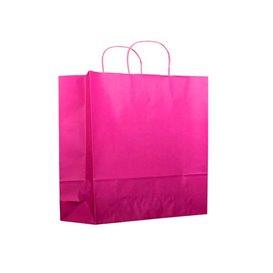 fuchsia Papieren zak met handgrepen 100g 22+9x23 cm (200 stuks)