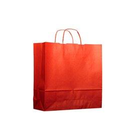 Papieren zak met handgrepen kraft rood 100g 22+9x23cm (25 stuks)