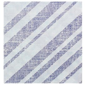 "Papieren servet dubbel punt ""Barlovento Blauw"" 40x40cm (600 stuks)"