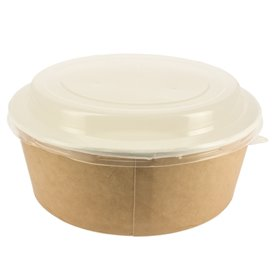 Paper Soup Bowl with Lid Kraft PP 19 Oz/550 ml (250 stuks)
