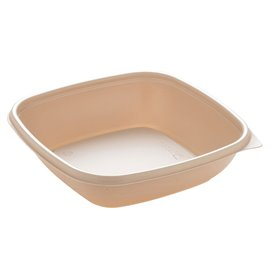 Plastic deli Container PP Crème 500ml 16,5x16,5x4cm (300 stuks)