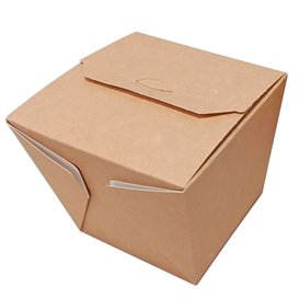 Papieren take-out Container Wok kraft 450ml (25 stuks)