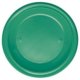 Plastic bord PS Diep groen Ø22 cm (600 stuks)