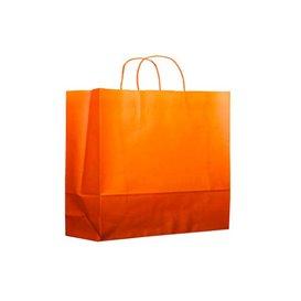 Papieren zak met handgrepen oranje 80g 20+10x29cm (200 stuks)