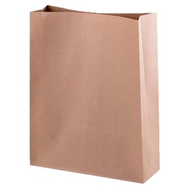 Papieren zak zonder handvat kraft 26+9x31cm (25 stuks)