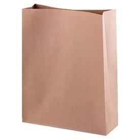 Papieren zak zonder handvat kraft 35+18x33cm (25 stuks)
