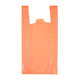 "Plastic Hemddraagtassen 70% Gerecycled ""Colors"" Oranje 42x53cm 50µm (40 stuks)"