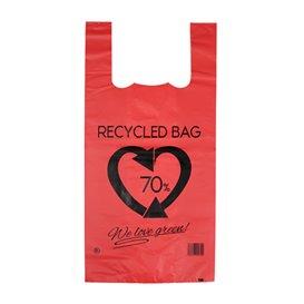 Plastic Hemddraagtassen 70% Gerecycled Rood 42x53cm 50µm (50 stuks)