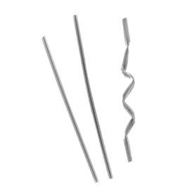 Sluiting Plastic Zak Zilver Gemetalliseerd 9,5cm (1000 stuks)