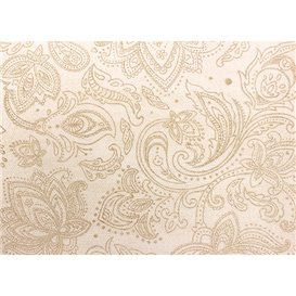 "Niet geweven Tafelkleed Rol 1,2x50m ""Mandala"" Crème 50g/m² V40cm (1 Stuk)"