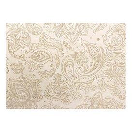 "Niet geweven Tafelkleed Rol 0,4x48m ""Mandala"" Crème 50g/m² V40cm (6 Stuks)"