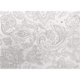"Niet geweven Tafelkleed Rol 1,2x50m ""Mandala"" Grijs 50g/m² V40cm (1 Stuk)"