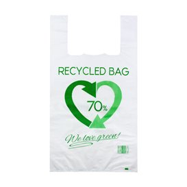 Plastic Hemddraagtassen 70% Gerecycled 50x60cm 50µm (100 stuks)