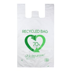 Plastic Hemddraagtassen 70% Gerecycled 70x80cm 50µm (300 stuks)