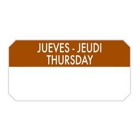 """Rechthoekige Zelfklevende Rol """"Thursday"""" 5x2,5cm (1.000 Stuks)"""