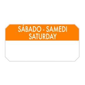 """Rechthoekige Zelfklevende Rol """"Saturday"""" 5x2,5cm (1.000 Stuks)"""